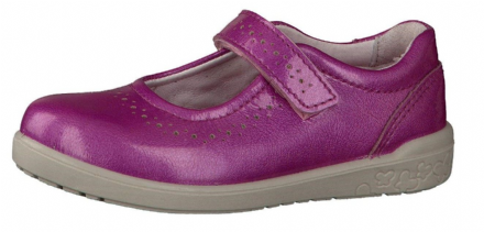 Ricosta LELIA Leather Velcro Mary Jane Shoe (Fruit/Pink Patent)